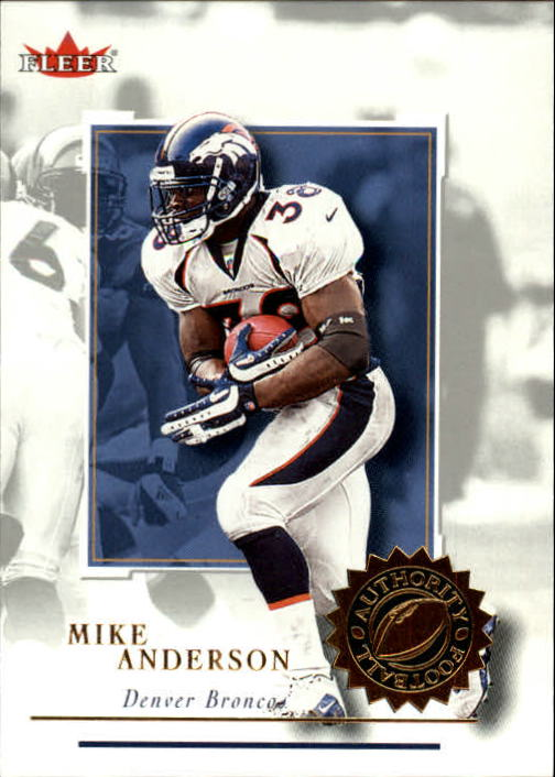 2001 Fleer Authority #45 Mike Anderson