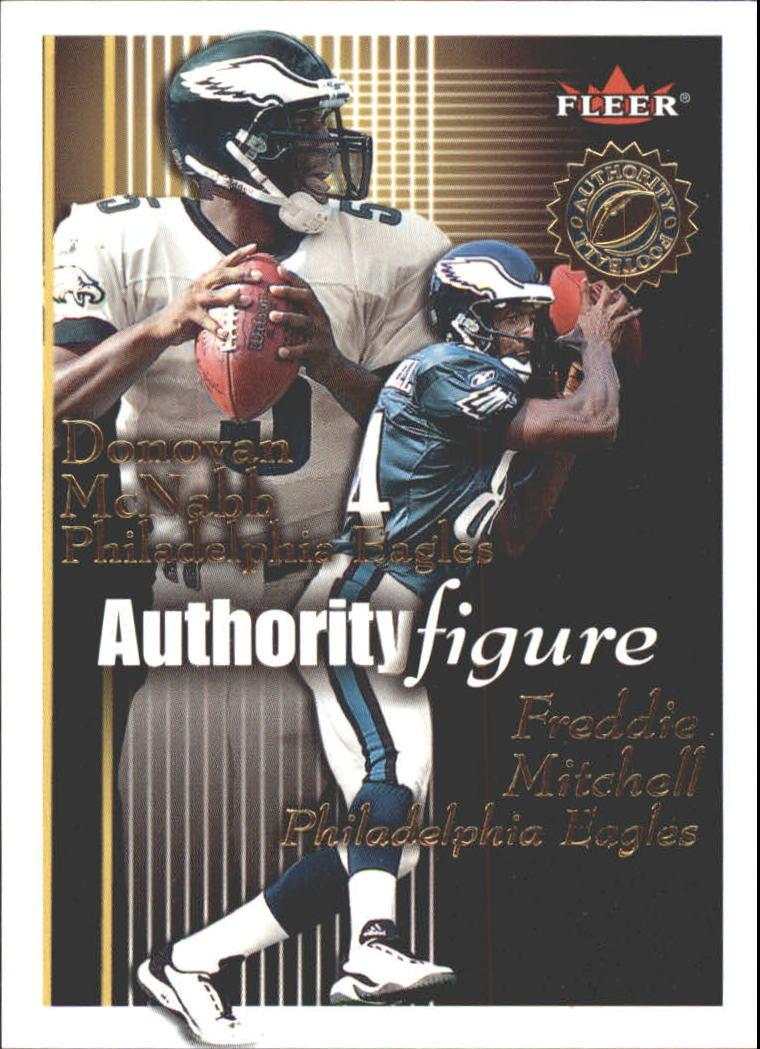 2001 Fleer Authority Figure #12 Quincy Morgan/Tim Couch