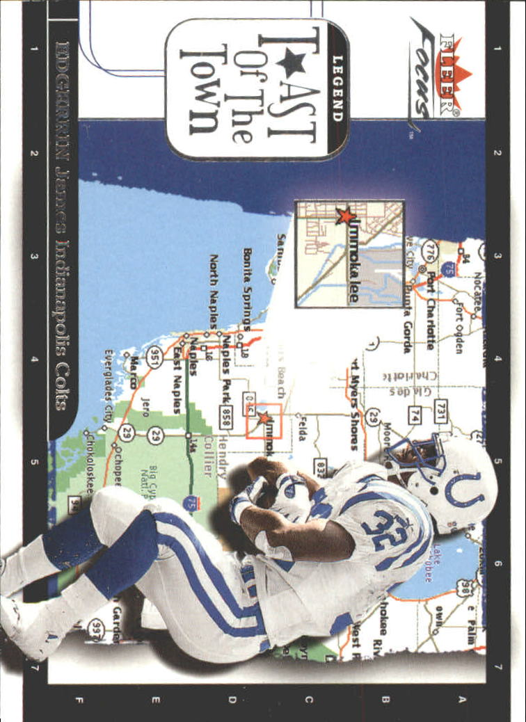 2001 Fleer Focus Toast of the Town #9 Edgerrin James