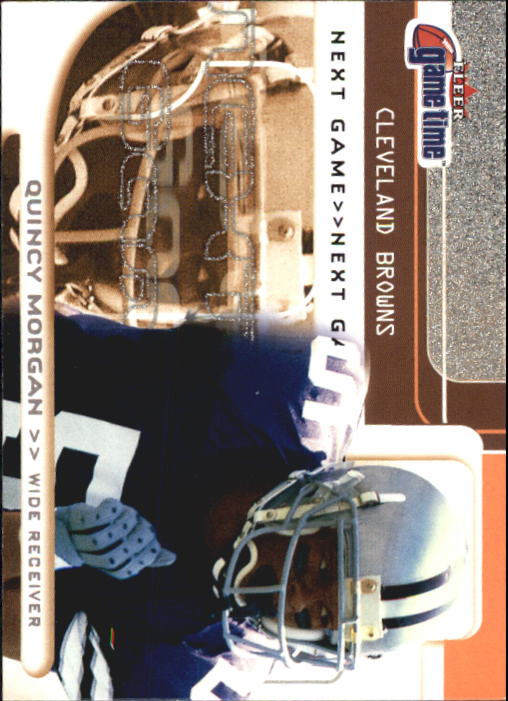 2001 Fleer Game Time #119 Quincy Morgan RC