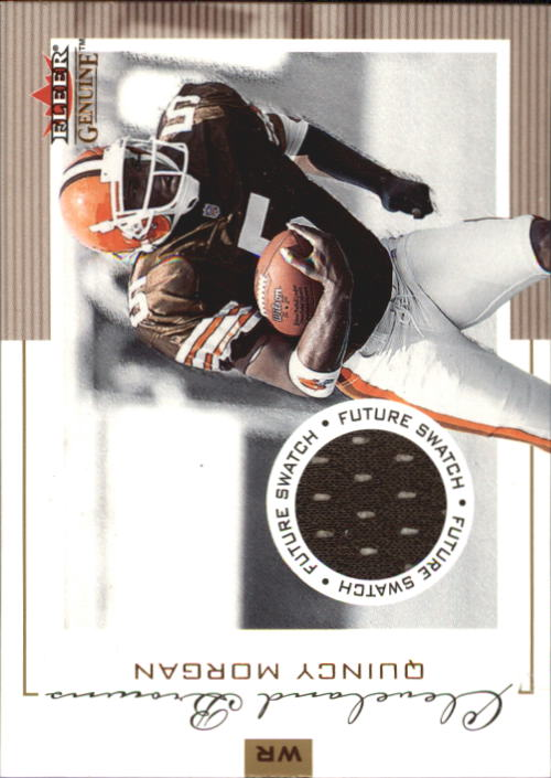 2001 Fleer Genuine #134 Quincy Morgan JSY RC