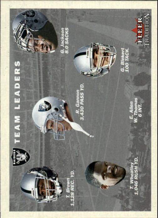 2001 Fleer Tradition #383 Oakland Raiders TL