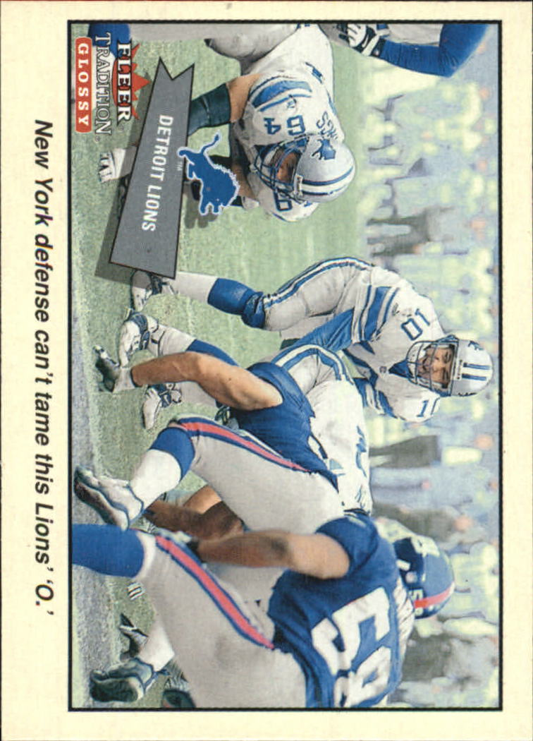 2001 Fleer Tradition Glossy #349 Detroit Lions TC