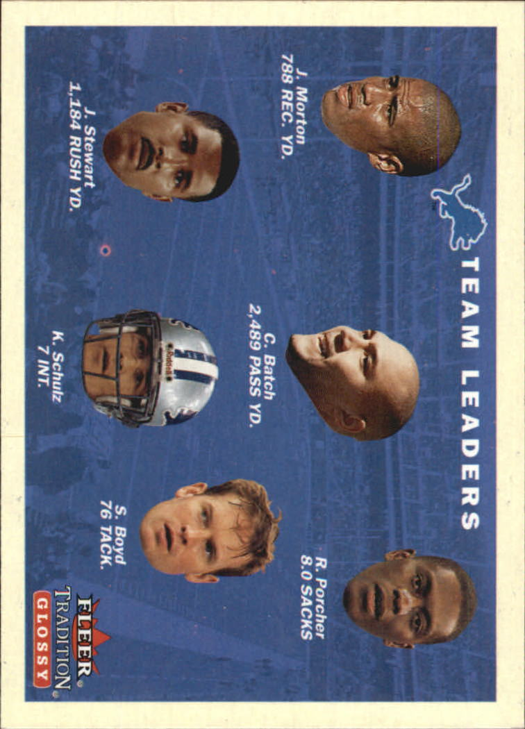 2001 Fleer Tradition Glossy #392 Detroit Lions TL