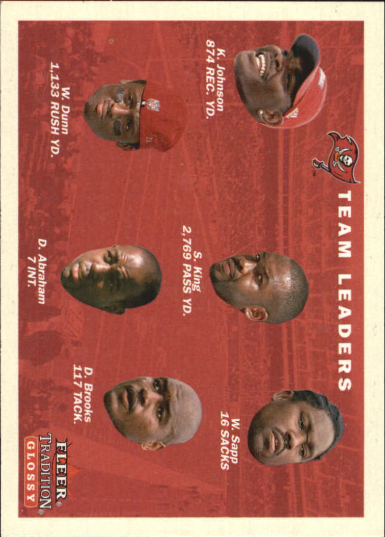 2001 Fleer Tradition Glossy #395 Tampa Bay Buccaneers TL