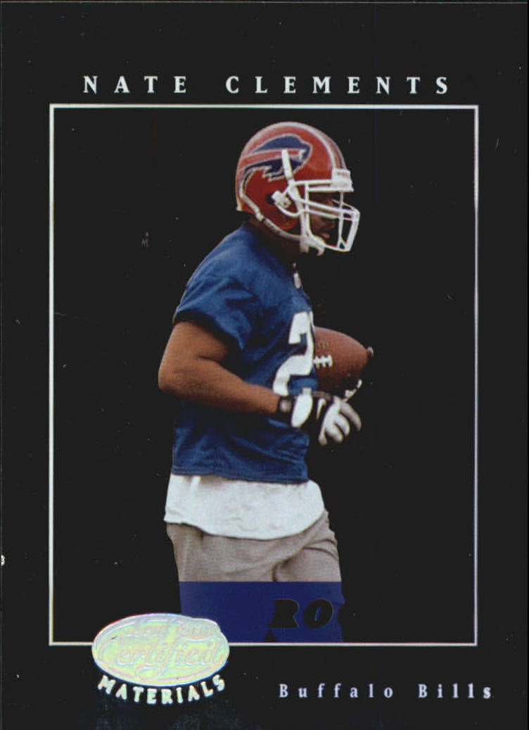 2001 Leaf Certified Materials #109 Nate Clements RC
