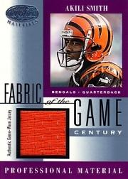 2001 Leaf Certified Materials Fabric of the Game #111CE Akili Smith/21