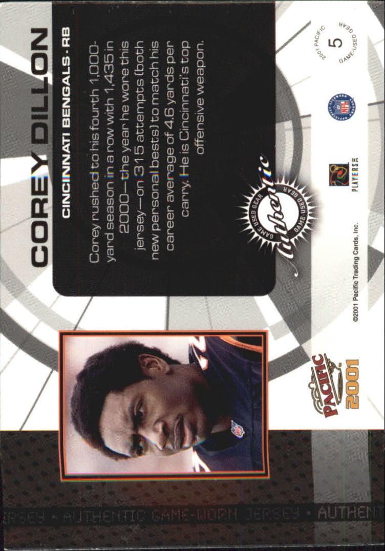 2001 Pacific Game Gear #5 Corey Dillon J