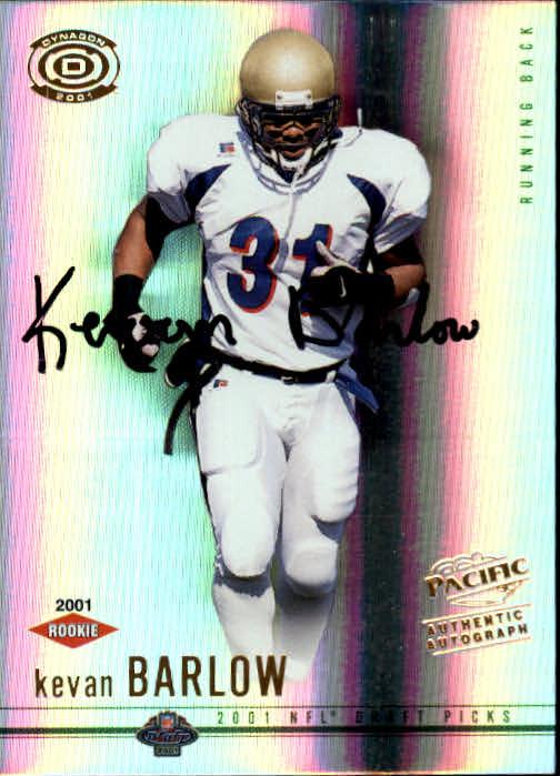 2001 Pacific Dynagon #112 Kevan Barlow AU RC