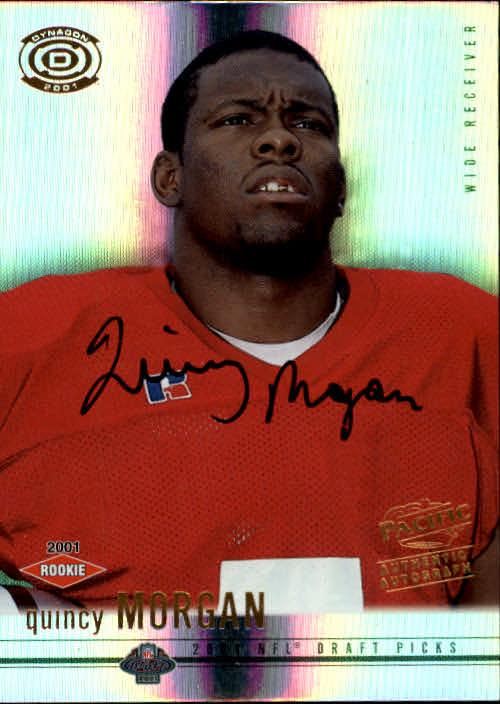 2001 Pacific Dynagon #121 Quincy Morgan AU RC