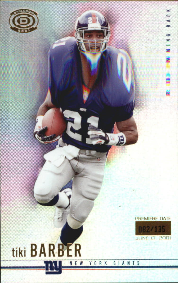 2001 Pacific Dynagon Premiere Date #60 Tiki Barber