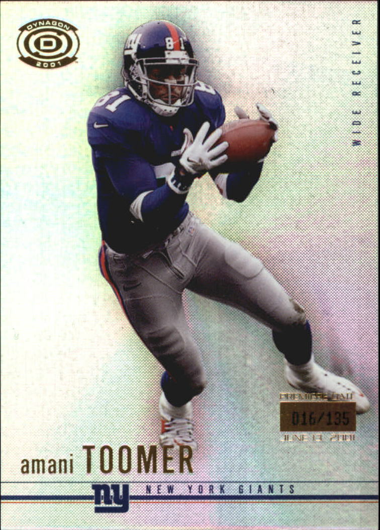 2001 Pacific Dynagon Premiere Date #63 Amani Toomer