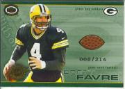 2001 Pacific Dynagon Game Used Footballs #7 Brett Favre
