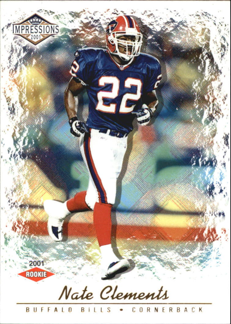 2001 Pacific Impressions Retail #153 Nate Clements RC