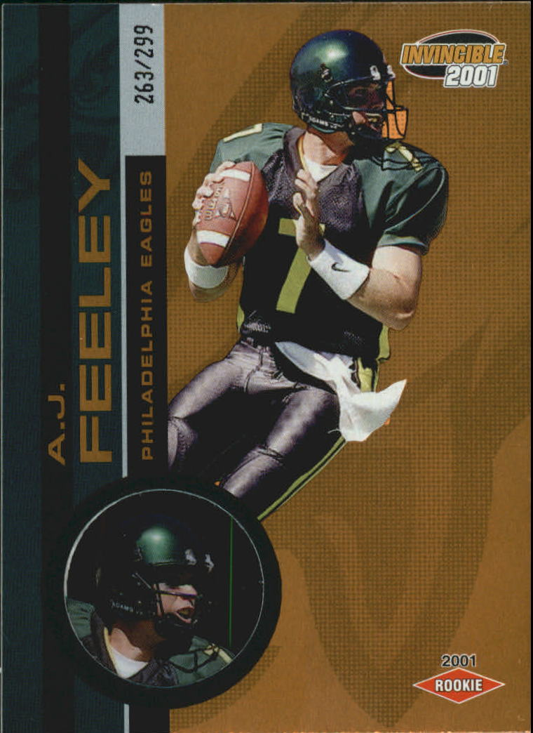 2001 Pacific Invincible #283 A.J. Feeley RC