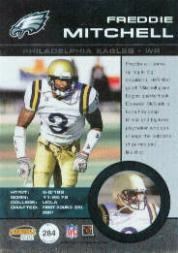 2001 Pacific Invincible #284 Freddie Mitchell JSY/250 RC back image
