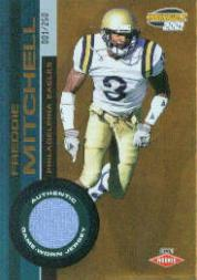 2001 Pacific Invincible #284 Freddie Mitchell JSY/250 RC