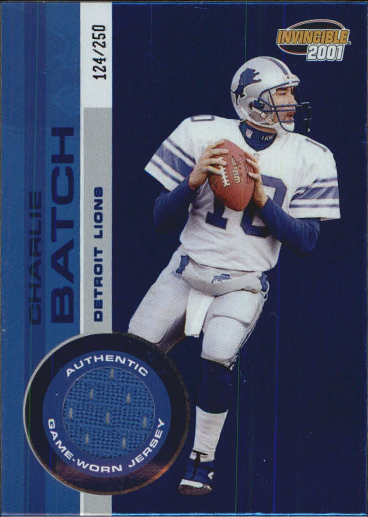 2001 Pacific Invincible Blue #78 Charlie Batch JSY