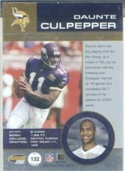 2001 Pacific Invincible Blue #132 Daunte Culpepper JSY back image