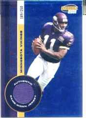 2001 Pacific Invincible Blue #132 Daunte Culpepper JSY
