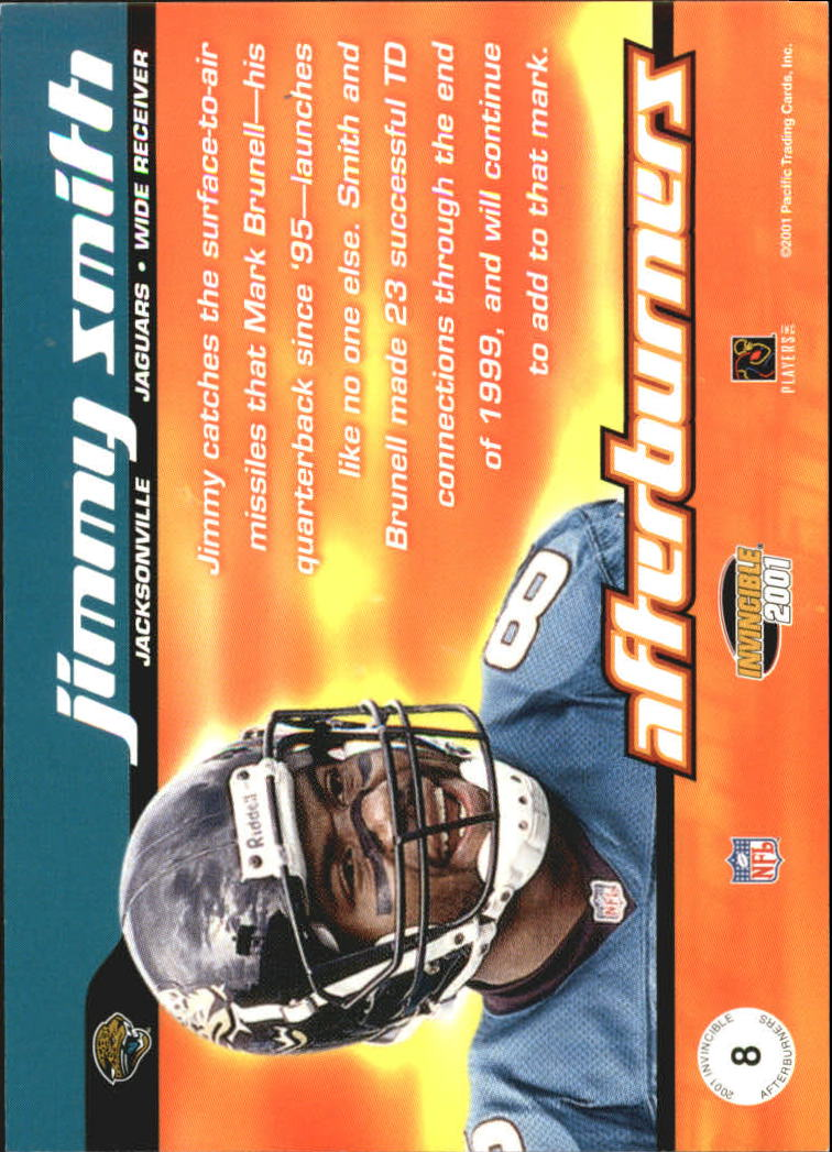 2001 Pacific Invincible Afterburners #8 Jimmy Smith back image