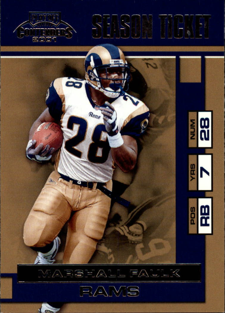 2001 Playoff Contenders #87 Marshall Faulk