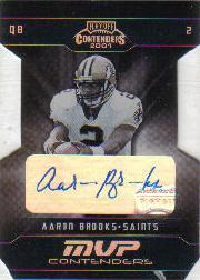 2001 Playoff Contenders MVP Contenders Autographs #11 Aaron Brooks