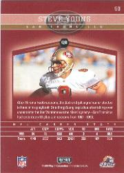 2001 Playoff Honors #98 Steve Young back image