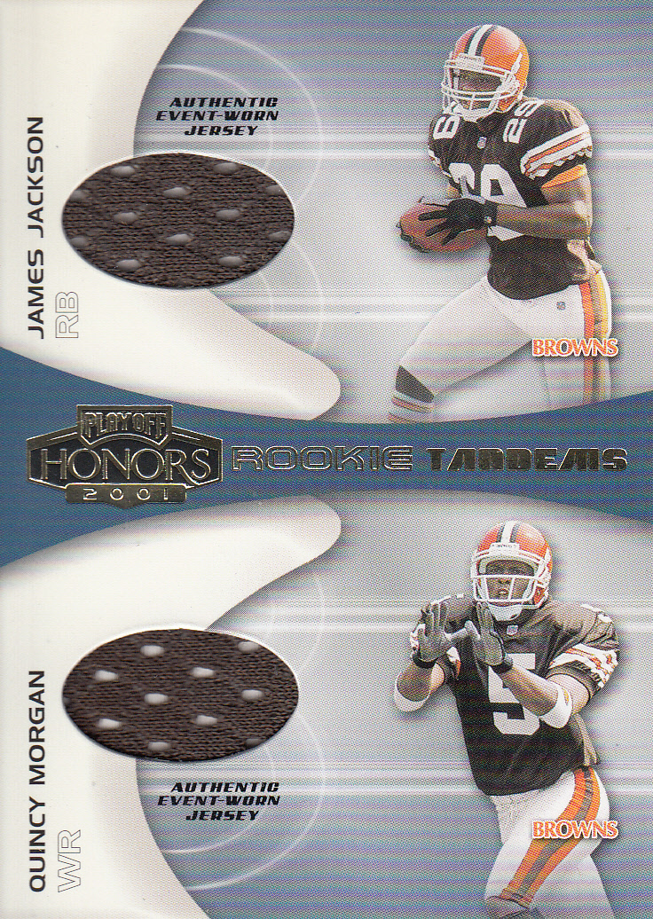 2001 Playoff Honors Rookie Tandem Jerseys #RT8 James Jackson/Quincy Morgan