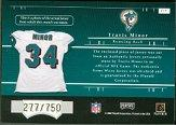 2001 Playoff Preferred #217 Travis Minor JSY/750 RC back image