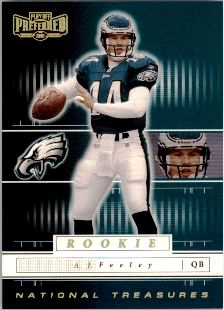 2001 Playoff Preferred National Treasures Gold #107 A.J. Feeley