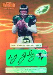 2001 Playoff Preferred Signatures Bronze #1 A.J. Feeley