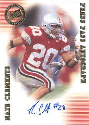 2001 Press Pass Autographs #9 Nate Clements