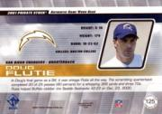 2001 Private Stock Game Worn Gear #125 Doug Flutie back image