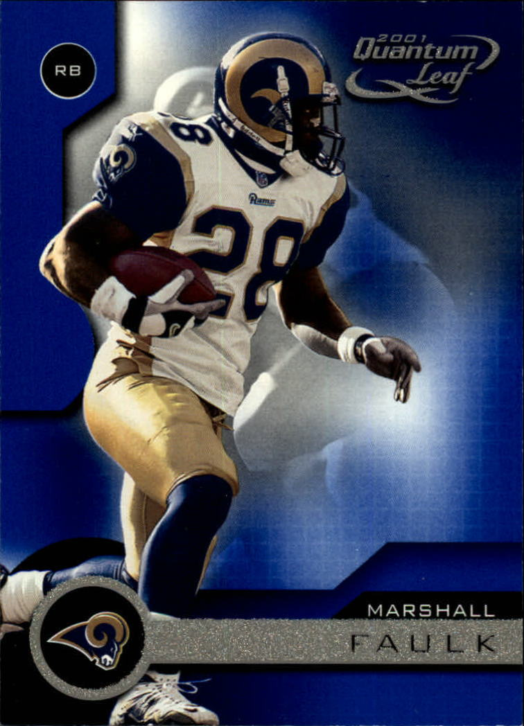 2001 Quantum Leaf #169 Marshall Faulk
