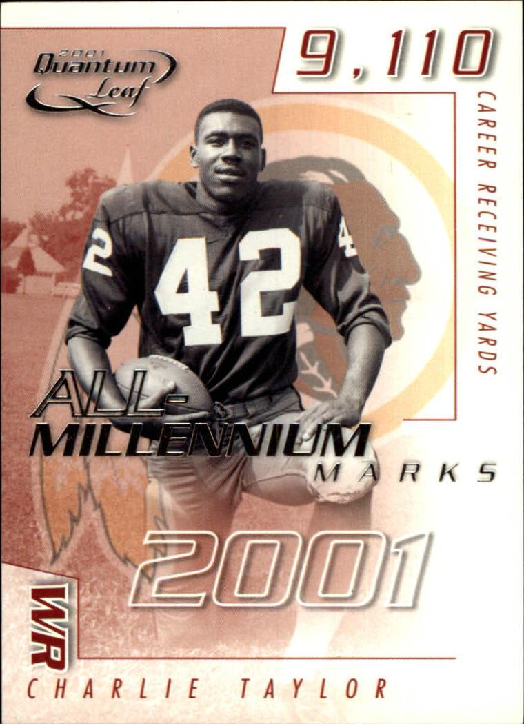 2001 Quantum Leaf All-Millennium Marks #AMAR14 Charley Taylor