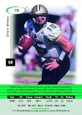 2001 SAGE HIT #15 Drew Brees back image