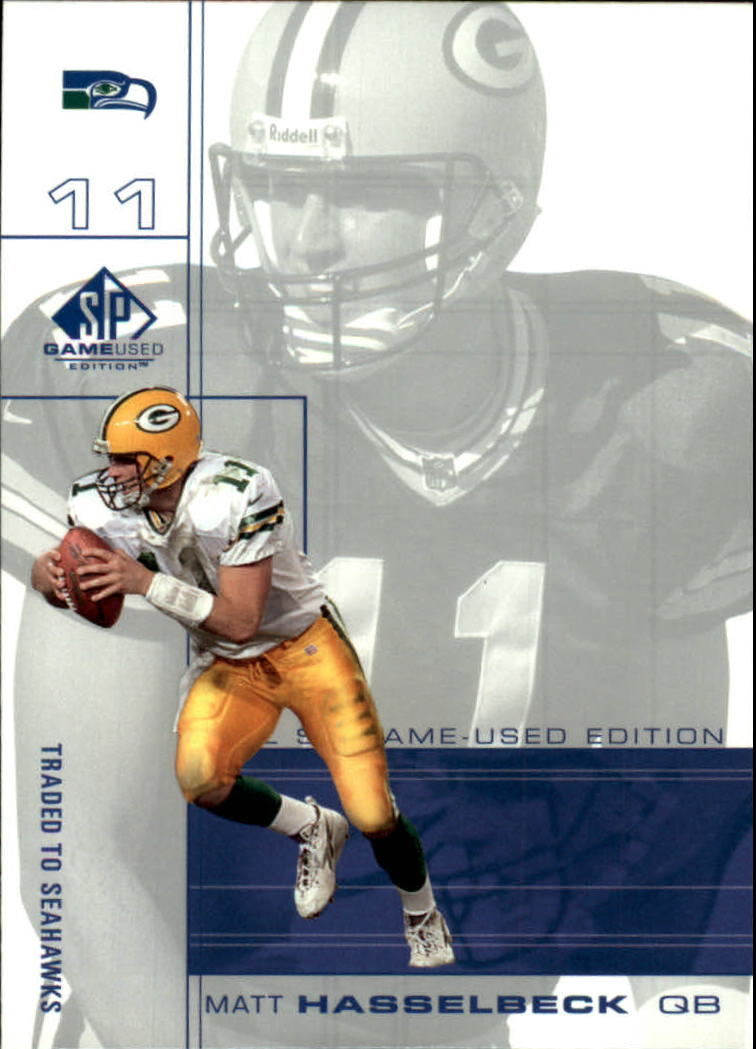 2001 SP Game Used Edition #81 Matt Hasselbeck