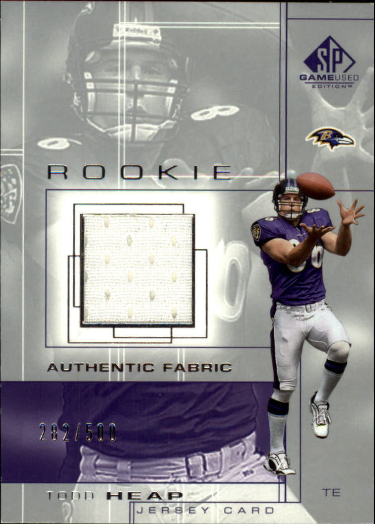 2001 SP Game Used Edition #100 Todd Heap JSY RC