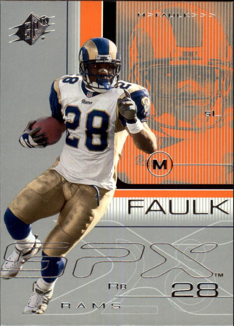 2001 SPx #71 Marshall Faulk