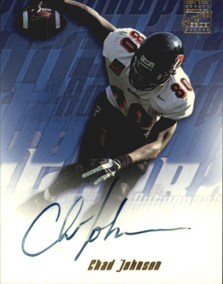 2001 Topps Autographs #TACJ Chad Johnson 6