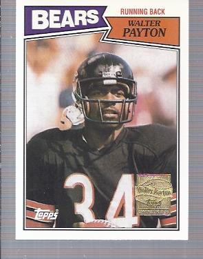2001 Topps Walter Payton Reprints #WP12 Walter Payton 1987