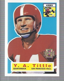2001 Topps Archives #81 Y.A. Tittle 56