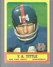 2001 Topps Archives #165 Y.A. Tittle 63