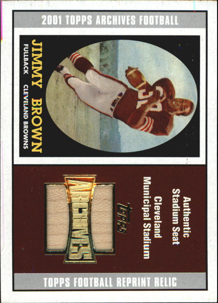 2001 Topps Archives Relic Seats #ASJB Jim Brown