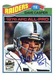 2001 Topps Archives Rookie Reprint Autographs #AADC Dave Casper J