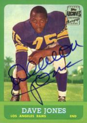 2001 Topps Archives Rookie Reprint Autographs #AADJ Deacon Jones J