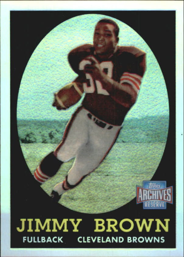 2001 Topps Archives Reserve #38 Jim Brown 58