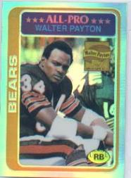 2001 Topps Chrome Walter Payton Reprints Refractors #WP3 Walter Payton 1978