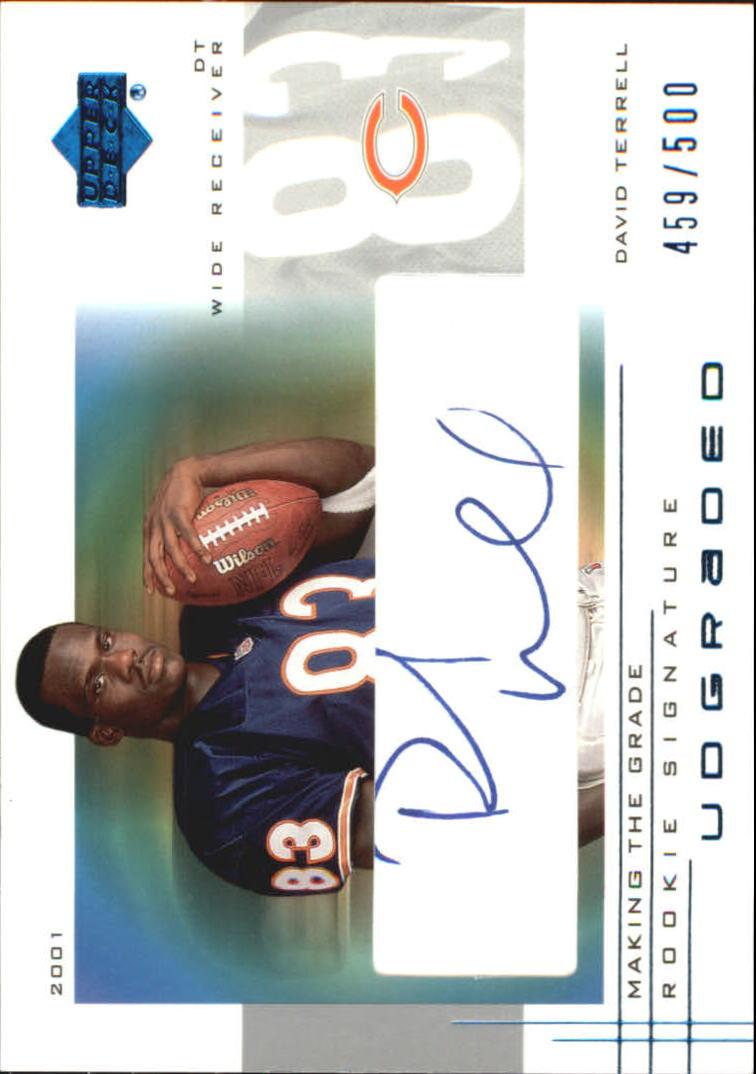 2001 UD Graded Rookie Autographs #52 David Terrell/500